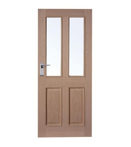 4 Panel Oak 2 Light Glazed Door