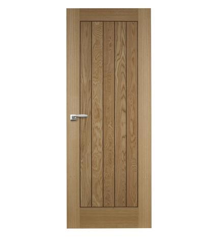 Panel inlaid oak veneer door